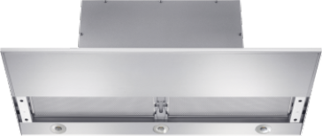 DA 3698 - Slimline cooker hood with motorised pull-out canopy for maximum convenience.--Stainless steel